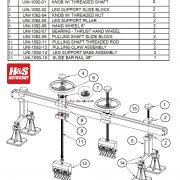 UNI-1093 Spare Parts List